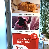 Ontwerp: BBC Communication -   Project: Roll-ups Brussels Airport