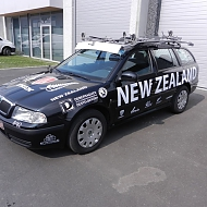 Project: New Zealand Cycling team - belettering wedstrijdwagen