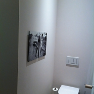 Project: dibond panelen in toilet